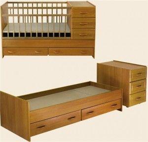 Какими бывают детские кровати-трансформеры